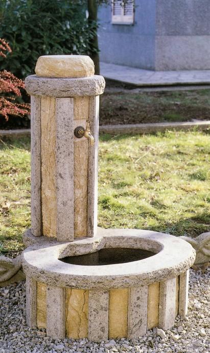 Fontane giardini fontana 853 toscana marmi for Come costruire una cabina di pietra