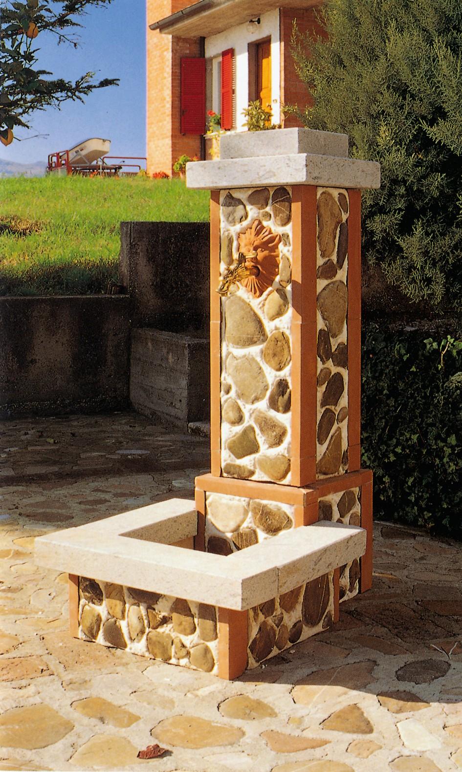 Fontane in pietra fontana 861 toscana marmi - Rifiniture giardino ...