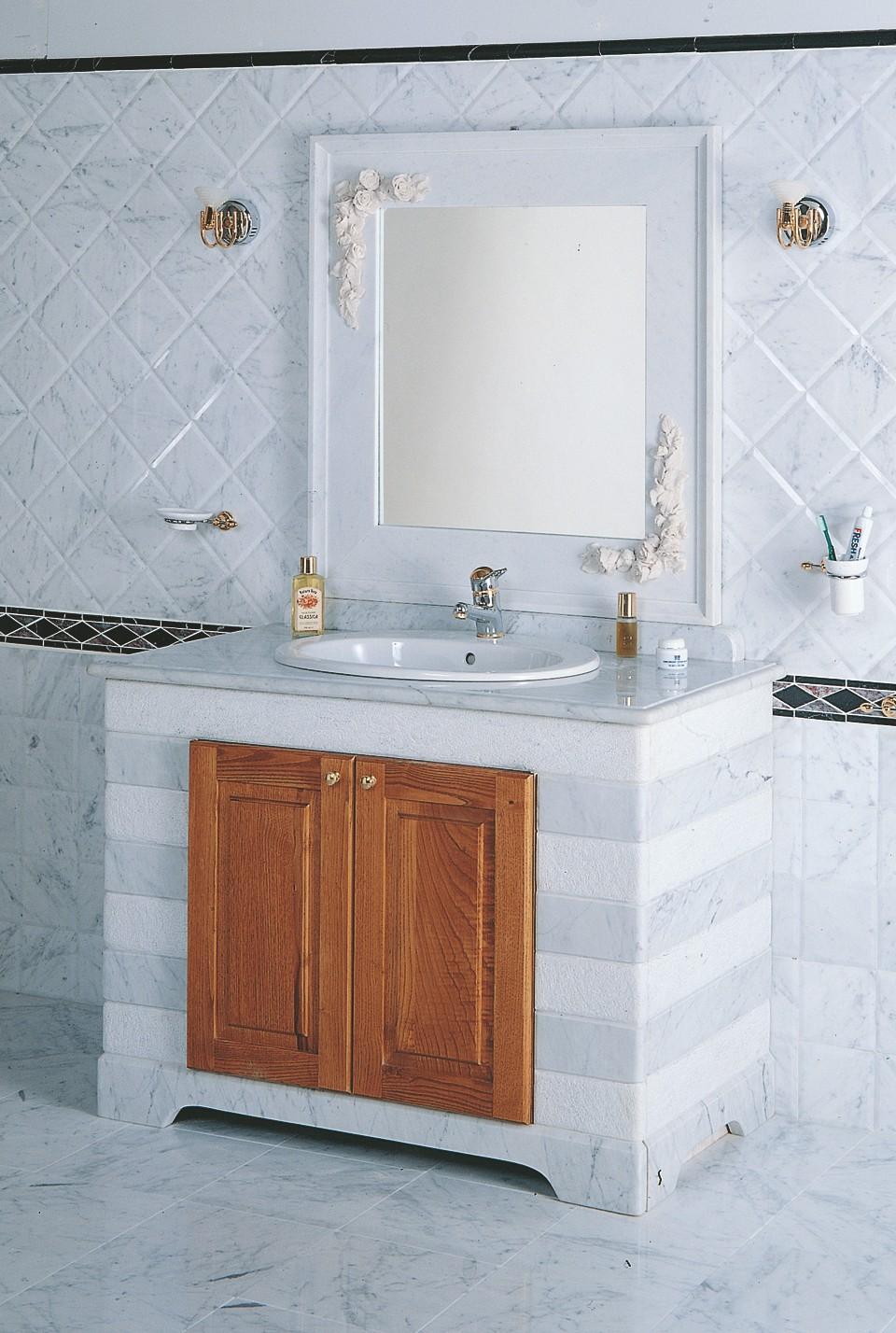 Bagno marmo bagno 3004 toscana marmi - Bagno grigio e bianco ...