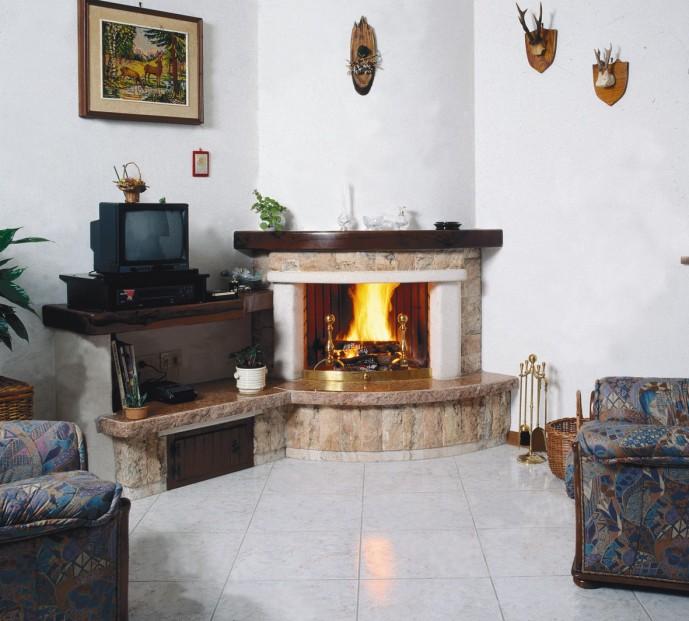 Caminetti bifacciali caminetto rustico 520n toscana marmi - Porta tv in muratura ...