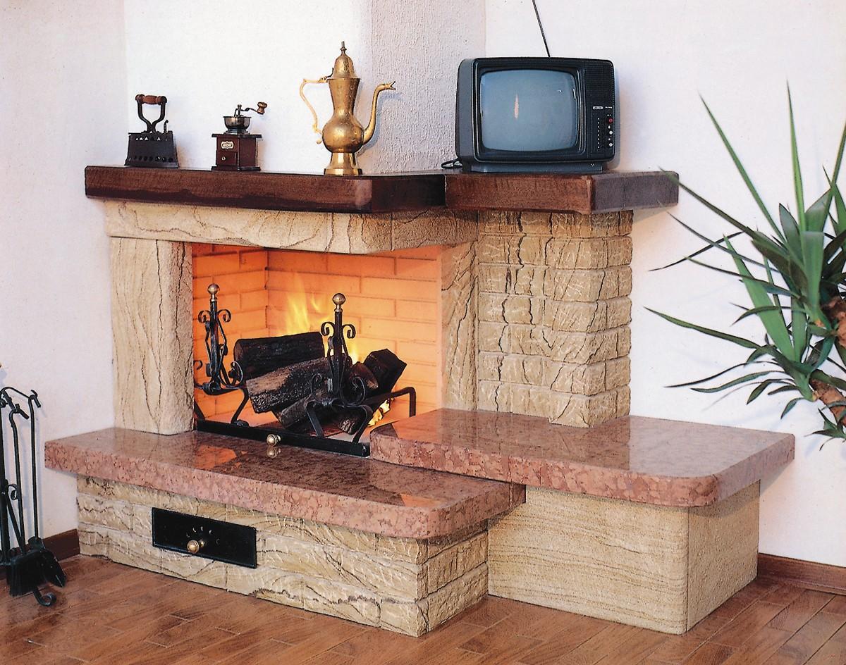Favoloso Caminetti rustici pietra | Caminetto rustico 526 | Toscana Marmi PJ29