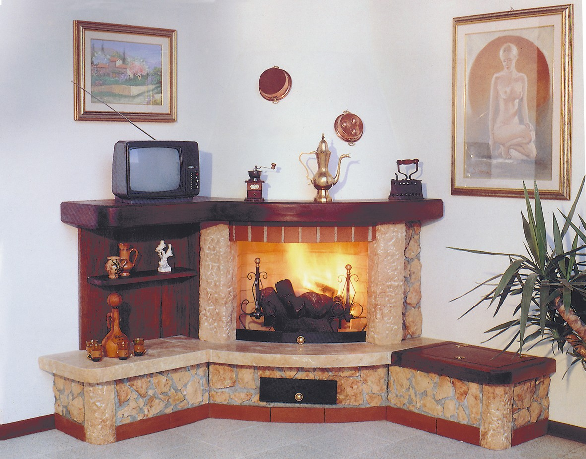 Popolare Caminetti rustici a parete | Caminetto rustico 529 | Toscana Marmi QA48