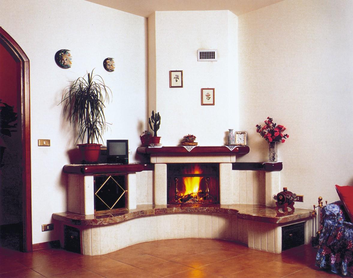 Camini Ad Angolo Caminetto Moderno 559 Toscana Marmi # Porta Televisore Ad Angolo