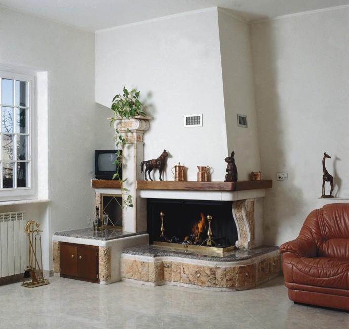 Installazione caminetti siena caminetto moderno 562 for Economici rivestimenti in legno