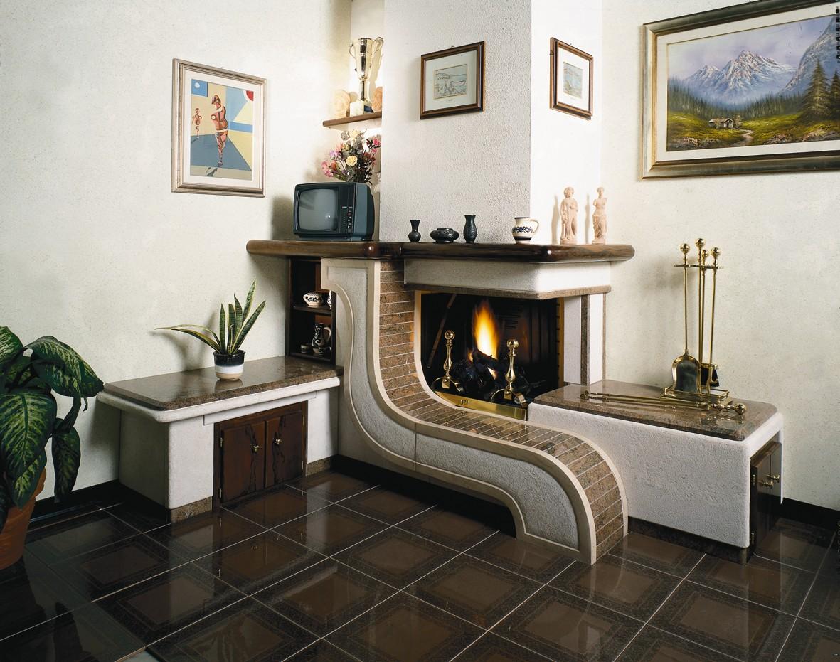 Camini legno caminetto moderno 582 toscana marmi - Rivestimento tavolo ...