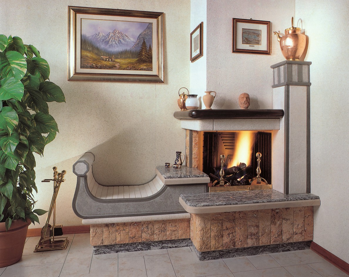Accessori camini caminetto moderno 583 toscana marmi for Mensole grigie
