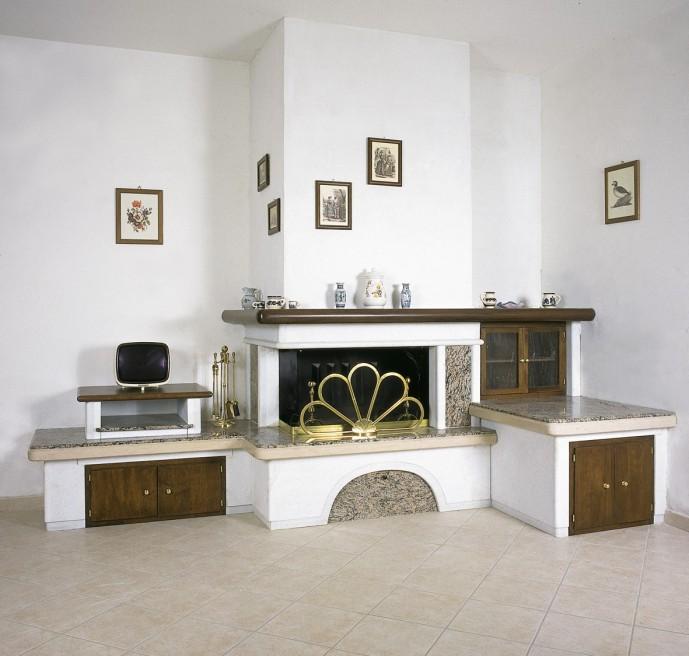 Caminetti da soggiorno  Caminetto moderno 599  Toscana Marmi