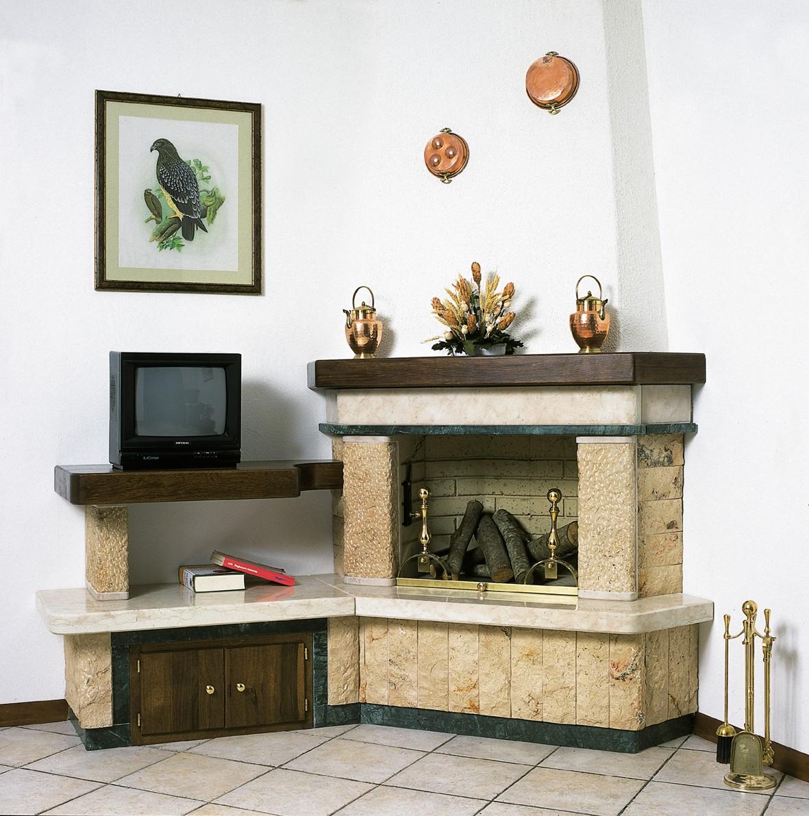 Camini soggiorno caminetto rustico 600 toscana marmi for Affitti cabina michigan con camino