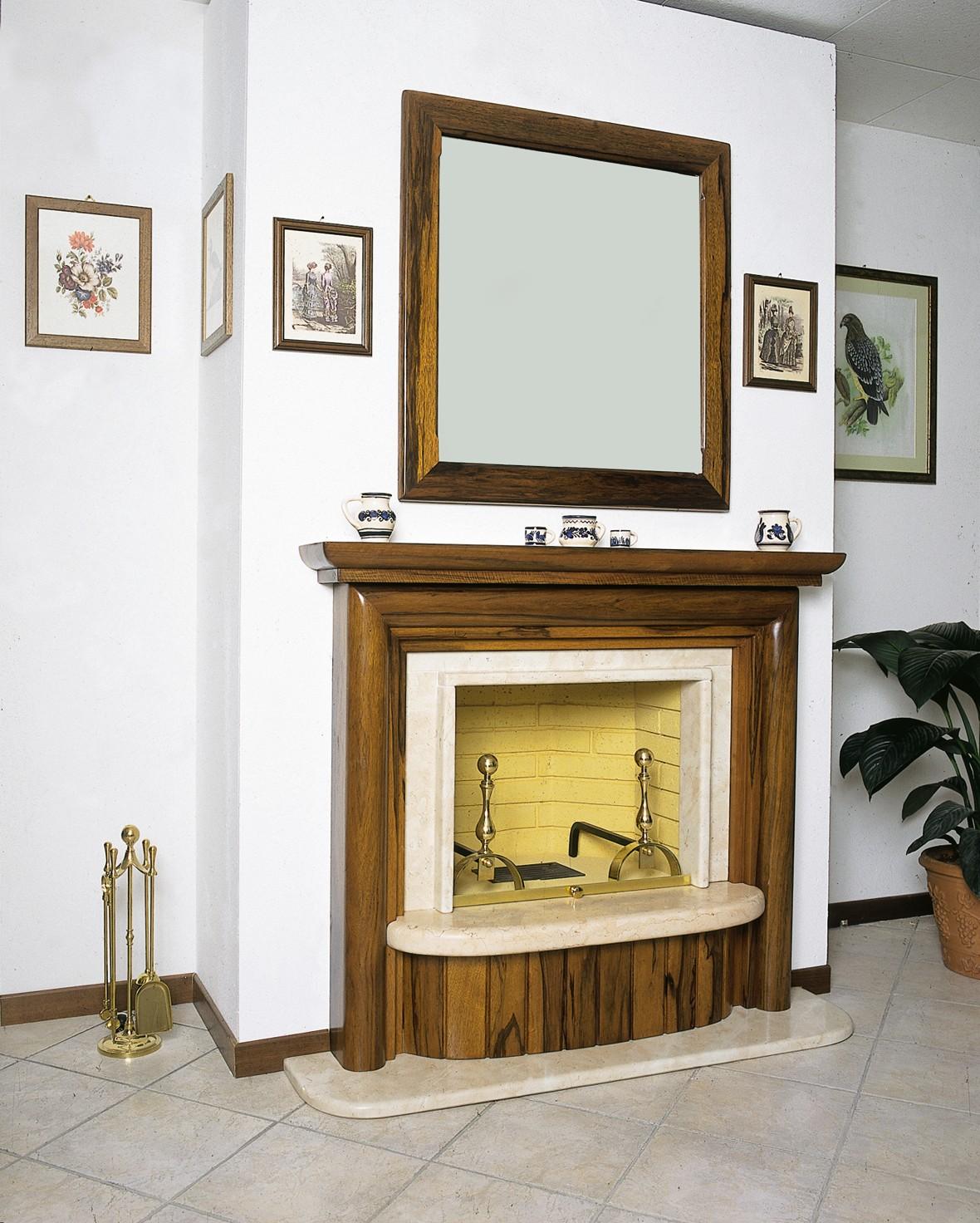 Caminetti da sala caminetto economico 606 toscana marmi for Economici rivestimenti in legno